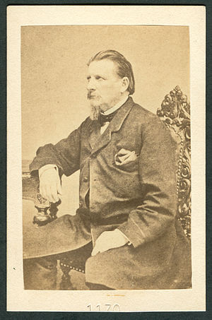 "Karl Gutzkow - About 1860: ""Carte de visite"" of Gutzkow, No. ""1170"" probably made by an anonymous copyist"