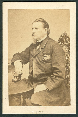 """Karl Gutzkow - About 1860: """"Carte de visite"""" of Gutzkow, No. """"1170"""" probably made by an anonymous copyist"""