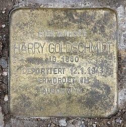 Photo of Harry  Goldschmidt brass plaque