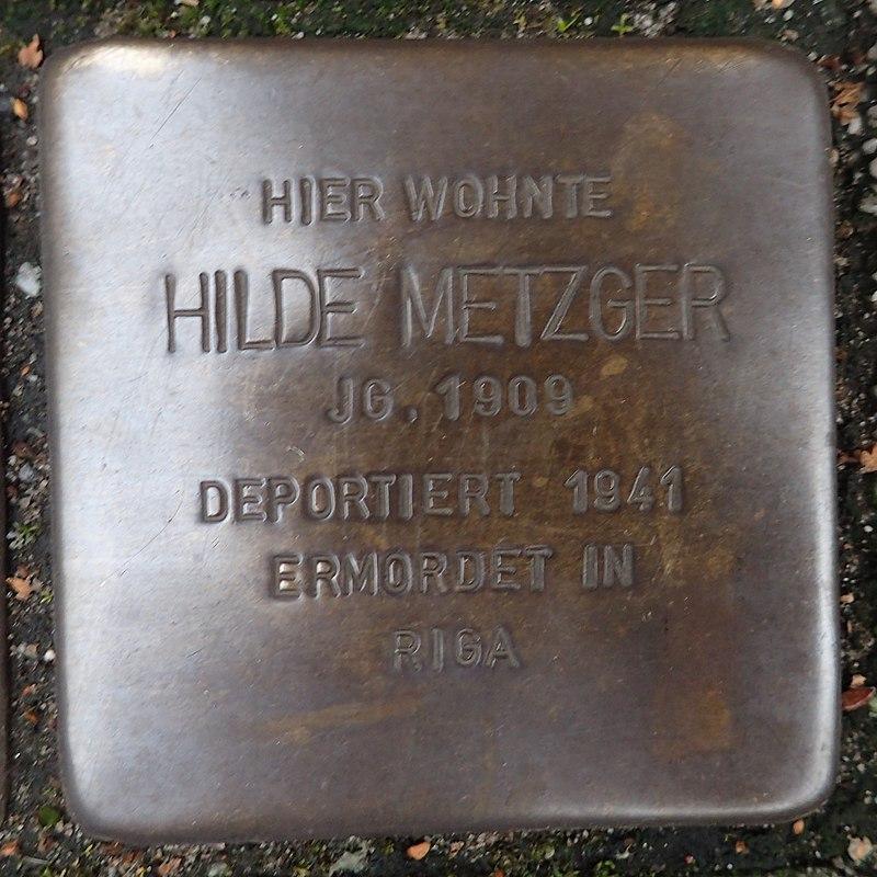 Stolperstein für Hilde Metzger