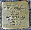 Stolperstein F. Freymann Esch-Alzette, 119 rue de l'Alzette 01.jpg