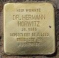 Stolperstein Prager Str 1 (Wilmd) Hermann Horwitz.jpg