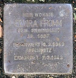 Photo of Elvira Fromm brass plaque