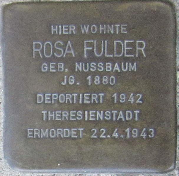 File:Stolperstein Würzburg Fulder Rosa geb Nussbaum.jpeg