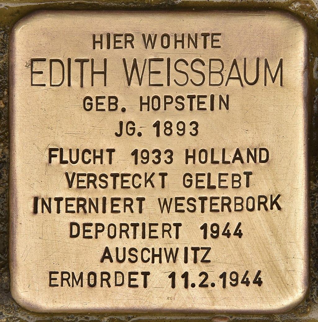 Stolperstein für Edith Weissbaum (Neumünster).jpg