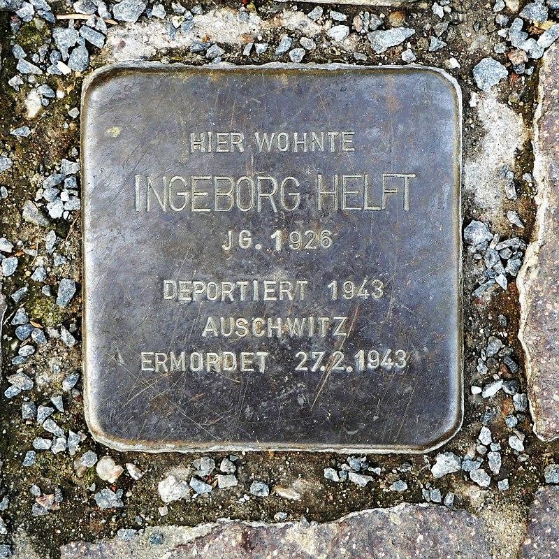 Stolperstein für Ingeborg Helft, Färbergasse 2, Wurzen.JPG