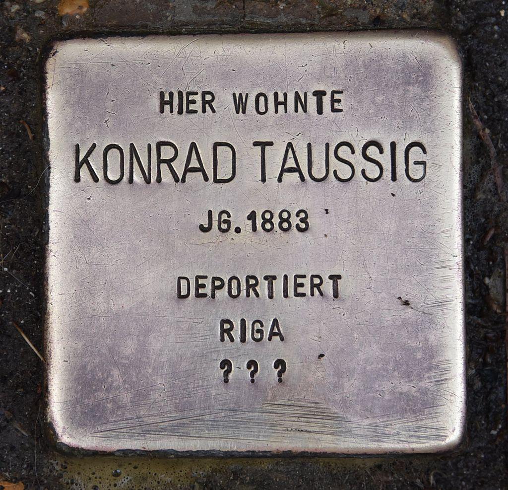 Stolperstein für Konrad Taussig 2.JPG