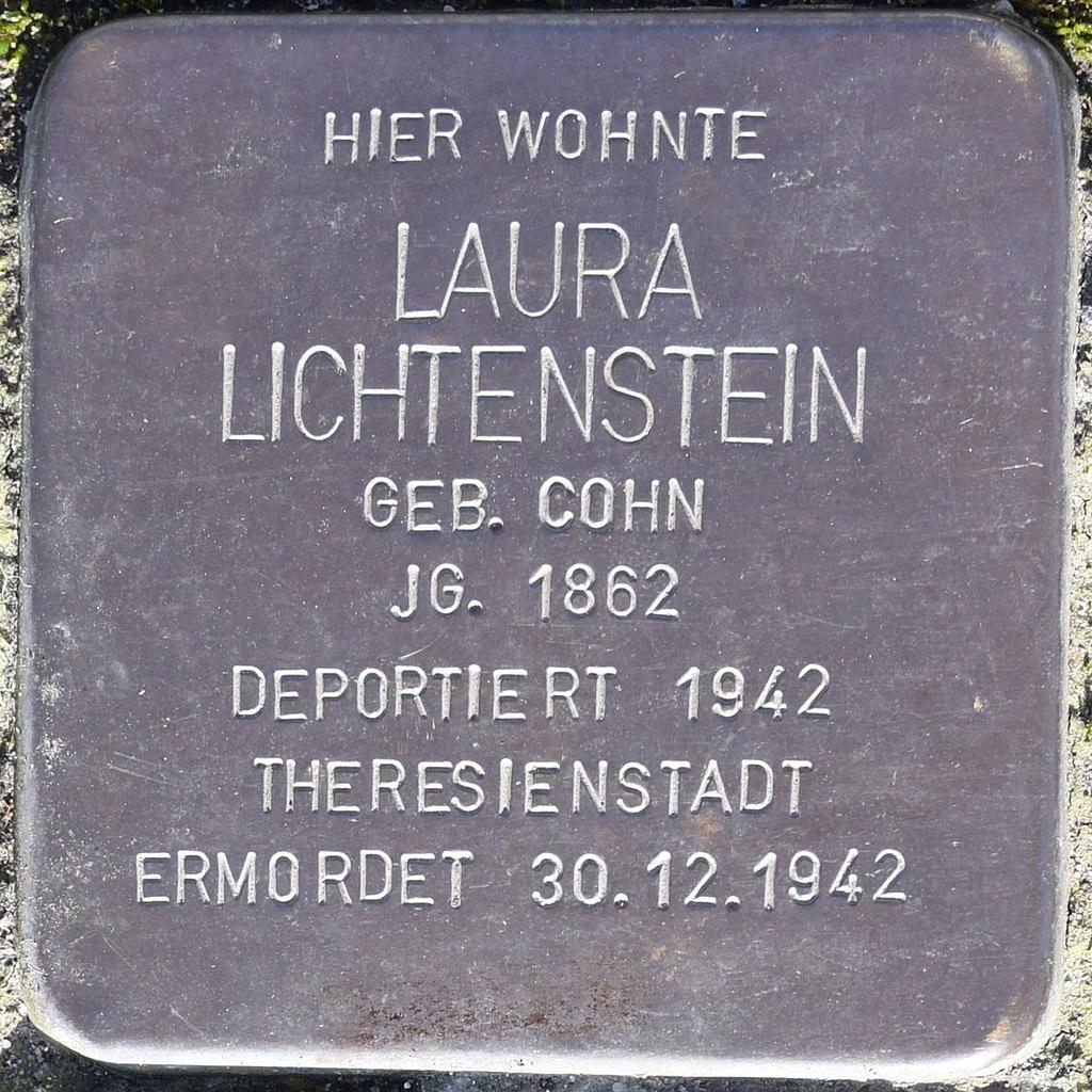 Stolperstein in Bad Pyrmont für Laura Lichtenstein