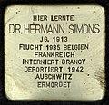 Stumbling block for Hermann Simons (Schaurtestrasse 1)