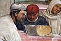 Storie di s. benedetto, 32 sodoma - Come Benedetto appare a due monaci lontani e loro disegna la costruzione di uno monastero 06.JPG