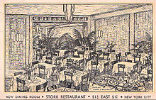 Illustration of club's dining room in 1933