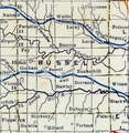 Stouffer's Railroad Map of Kansas 1915-1918 Russell County.png