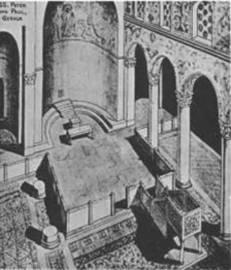 Templon - A reconstruction of the templon of St. Paul's and Peter's Cathedral.