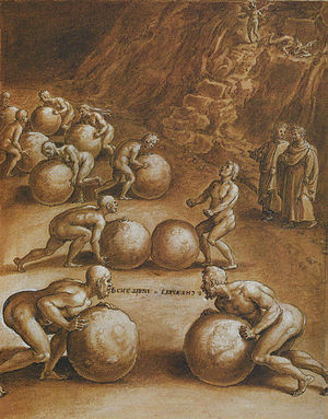 Illustration of Dante's Inferno, Canto 7