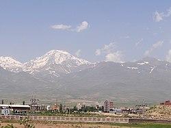 Suburban Landscape with Mt. Salaban (4811 Metres) - Near Saraeyn - Iranian Azerbaijan - Iran (7421215180).jpg