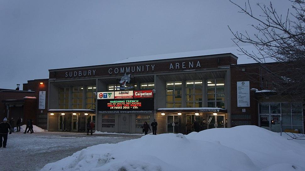 Sudbury Community Arena - Exterior
