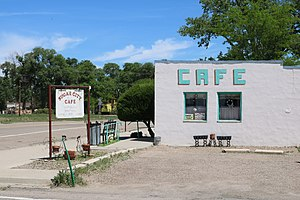 Sugar City, Colorado - A cafe along Colorado Street in Sugar City.