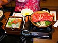 Sukiyaki and Sashimi of Washoku Sato Taipei 20110709a.jpg