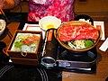 Sukiyaki and Sashimi of Washoku Sato Taipei 20110709a.jpg