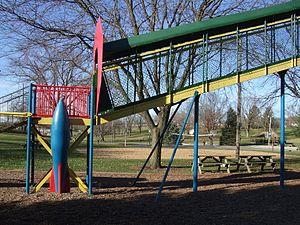 Cold War playground equipment - Image: Sunset Park, Washington, Iowa