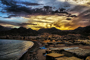 Nuweiba - Sunset in the bosom of the mountain in Nueiba