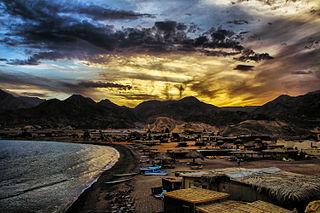 coastal town in South Sinai, Egypt