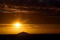 Sunset over Oresund at Helsingborg 2013-12-01.jpg