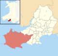 Swansea UK ward location - Gower.png