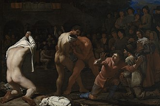Wrestling - Michiel Sweerts, Wrestling Match, 1649
