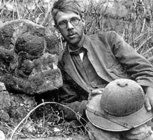 Sylvanus Morley - Morley at the Maya site of Copán, in Honduras (ca. 1912)