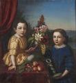 Syskonen Henrietta Fredrika von Arbin (1852-1880) och Axel Otto Fredrik von Arbin (1853-1906) - Nationalmuseum - 159535.tif