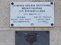 Szolnok vasútállomás, Hatvan-Szolnok vasútvonal 125. évfordulójára tábla, 2017 Szolnok.jpg