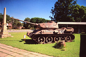 Zimbabwe People's Revolutionary Army - ZIPRA T-34-85 tank at the Zimbabwe Military Museum, Gweru.