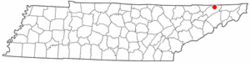 Location of Church Hill, Tennessee