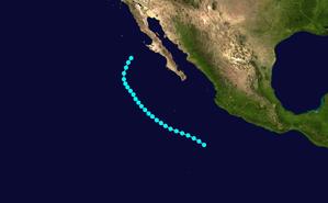 1949 Pacific hurricane season - Image: TS 2 E 1949 track
