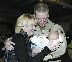 Parenting - An Air Force sergeant meets his son for the first time