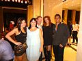 TV-Radio Presenter Jen Su with American actress Angie Everhart at GPI International.jpg