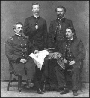 Thomas Alfred Davies - Thomas Davies (seated, left) during the American Civil War
