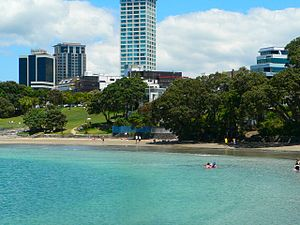 Takapuna - Takapuna from the water