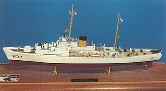 USCGC Taney (WHEC-37) - Model of Taney as the ship appeared in the 1950s