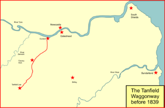 Brandling Junction Railway - Route of the Tanfield Waggonway