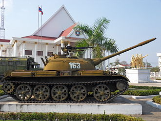 Type 62 - Chinese-made Type 62 light tank in Vientiane, Laos.