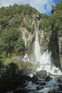 Tarawera Falls with rainbow.jpg