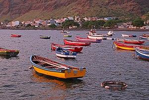 Tarrafal de São Nicolau, Cape Verde - Town of Tarrafal de São Nicolau with its harbor and its boats