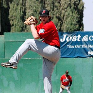 High Desert Mavericks - Taylor Stanton pitching for High Desert in 2012