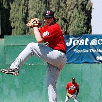 High Desert Mavericks - Taylor Stanton pitching for High Desert in 2012