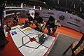 Team Quad Core Robotics Preparing Their Robot - Indian National Championship - WRO - Kolkata 2016-10-22 8346.JPG