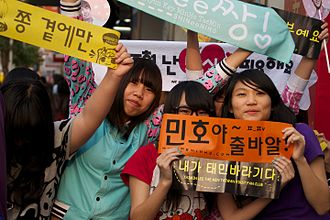 Sasaeng fan - Taiwanese k-pop fans of the group SHINee. The growing influence of Hallyu draws in many fans of k-pop abroad.
