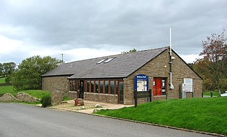 Tegg's Nose - Visitor centre and sheep sculpture