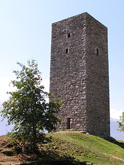 The medieval Torre de li beli miri, symbol of the town.